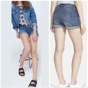 Madewell NWOT High Rise Roll Cuff Denim Shorts, 25